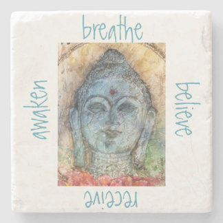 Breathe Awaken Buddha Stone Coaster