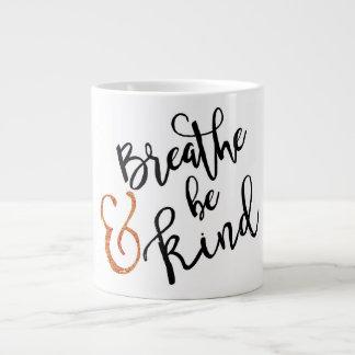 """Breathe & Be Kind"" Inspirational Mug"