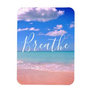 Breathe | Beachy, Ocean Motivational Magnet