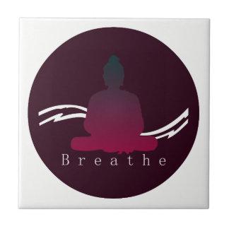 """Breathe"" Beautiful Buddha. Ceramic Tile"