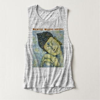 Breathe Believe Buddha Art Women's Relaxed Tank
