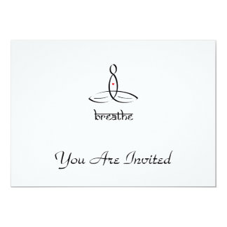 Breathe - Black Sanskrit style 13 Cm X 18 Cm Invitation Card