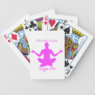 Breathe Calm Yoga On Playing Cards