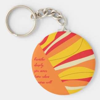 breathe deeply key ring