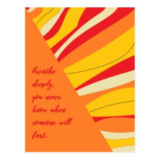 breathe deeply postcard