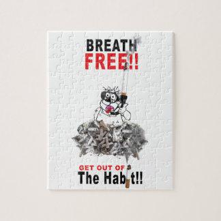 Breathe Free - STOP SMOKING Jigsaw Puzzle