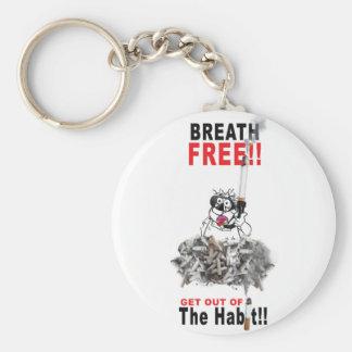 Breathe Free - STOP SMOKING Key Ring