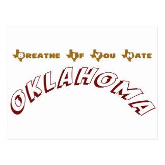 Breathe If You Hate Oklahoma Postcard