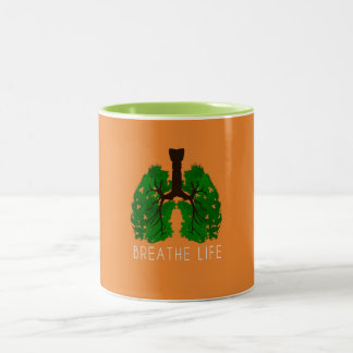 Breathe Life Two-Tone Coffee Mug