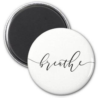 Breathe Meditation Yoga Minimalistic Magnet