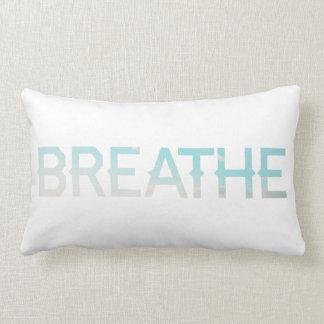 Breathe Morning Sky Word Inspiration Lumbar Pillow