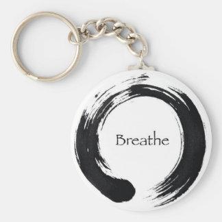 Breathe with Enso symbol Key Ring