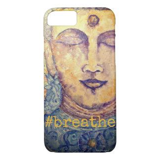 Breathe Zen Buddha Art iPhone Case
