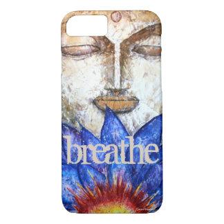Breathe Zen Buddha Art Phone Case