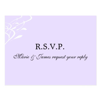 Breathless Lightly Lavendar RSVP Postcard