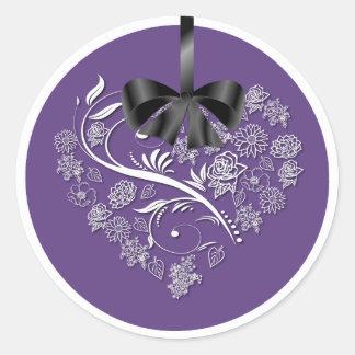 Breathless Wedding Envelope Seals - plum Round Sticker