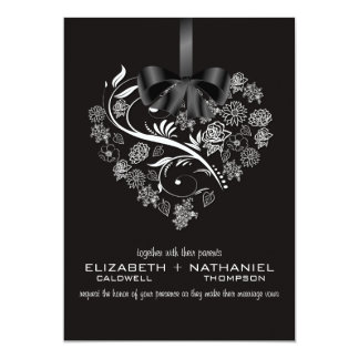 Breathless Wedding Invitation--midnight Card
