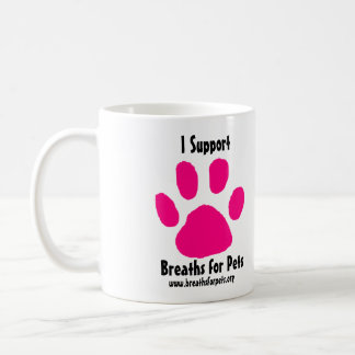 Breaths for Pets Pink Paw Print Coffee Mug