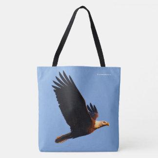 Breathtaking Bald Eagle in Winter Sunset Flight Tote Bag