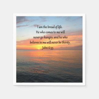 BREATHTAKING JOHN 6:35 SUNRISE DESIGN DISPOSABLE NAPKIN