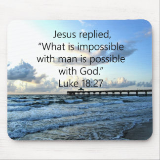 BREATHTAKING LUKE 18:27 OCEAN PHOTO DESIGN MOUSE PAD