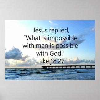 BREATHTAKING LUKE 18:27 OCEAN PHOTO DESIGN POSTER
