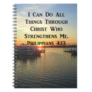 BREATHTAKING PHILIPPIANS 4:13 SCRIPTURE NOTEBOOK