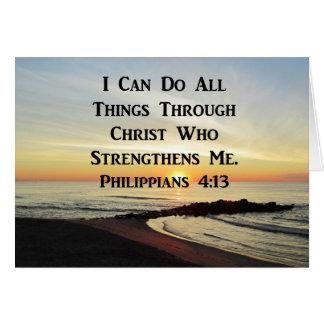 BREATHTAKING PHILIPPIANS 4:13 SCRIPTURE VERSE CARD