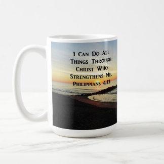 BREATHTAKING PHILIPPIANS 4:13 SCRIPTURE VERSE COFFEE MUG