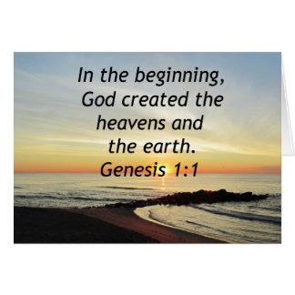 BREATHTAKING SUNRISE ON THE OCEAN GENESIS 1:1 CARD
