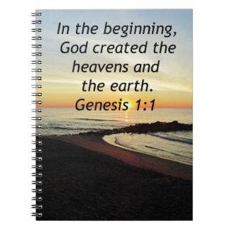BREATHTAKING SUNRISE ON THE OCEAN GENESIS 1:1 NOTEBOOK
