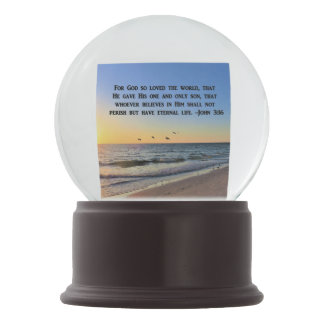 BREATHTAKING SUNRISE PHOTO JOHN 3:16 SNOW GLOBE