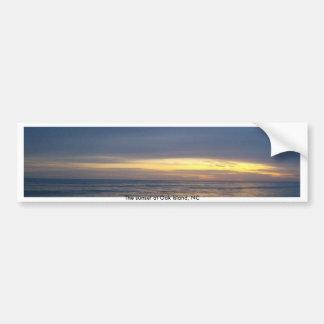 Breathtaking Sunset at Oak Island Car Bumper Sticker