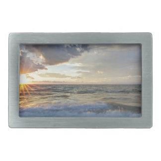 Breathtaking sunset rectangular belt buckle
