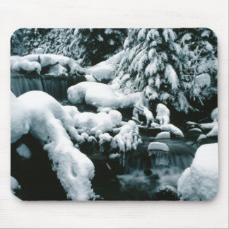 Breathtaking Winter Scene Mouse Pad