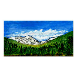 Breckenridge CO 1999 Art The MUSEUM Zazzle Gifts Poster