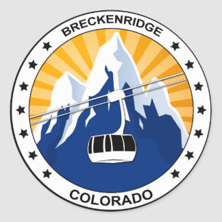 Breckenridge Colorado Classic Round Sticker