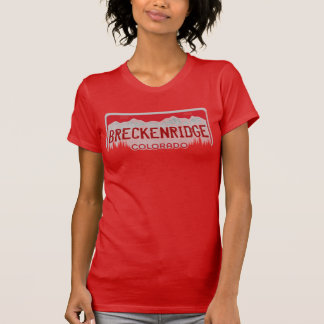 Breckenridge Colorado ladies red license plate tee