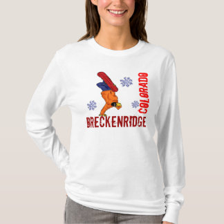 Breckenridge Colorado ladies snowboard hoodie