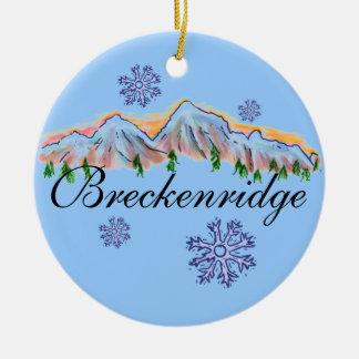 Breckenridge Colorado mountain ornament