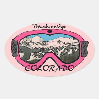 Breckenridge Colorado pink goggle stickers