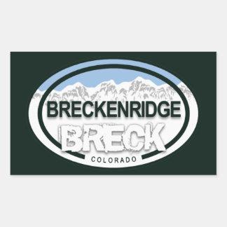 Breckenridge Colorado Rocky Mountain Breck Rectangular Sticker