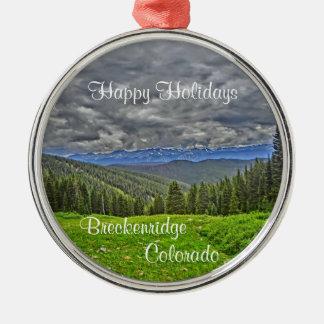 Breckenridge Colorado scenic landscape ornament