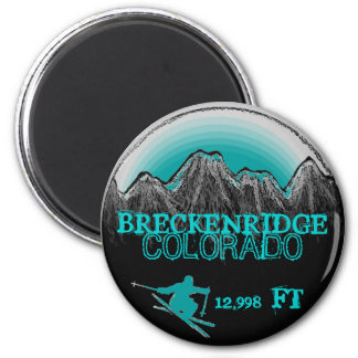 Breckenridge Colorado teal ski magnet