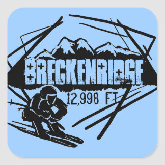 Breckenridge elevation ski stickers
