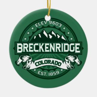 Breckenridge Forest Ceramic Ornament