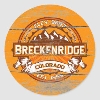 Breckenridge Tangerine Old Paint Classic Round Sticker