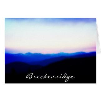 Breckenridge Ten Mile Range Greeting Card