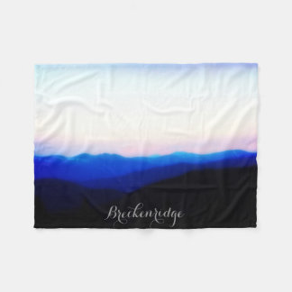 Breckenridge Ten Mile Range Sunset Fleece Blanket