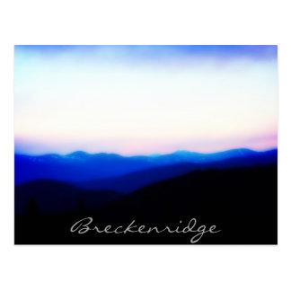 Breckenridge Ten Mile Range Sunset Postcard